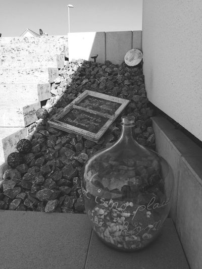 Garden No People Day Outdoors Freedom Black And White Blackandwhite Photography Stones Window Windowframe Garden Garden Architecture Garden Photography