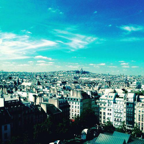 Top of view - PARIS Rooftop Topofview Beautiful Sky Montmartre Sacré-Coeur Georges Pompidou  Le Marais Summer