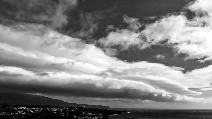 EyeEm Selects Blackandwhite Black And White Bnw_collection Bnw Water Mountain Storm Cloud Cyclone Sky Cloud - Sky Landscape Atmospheric Mood Cumulus Cumulonimbus Meteorology Moody Sky Dramatic Sky
