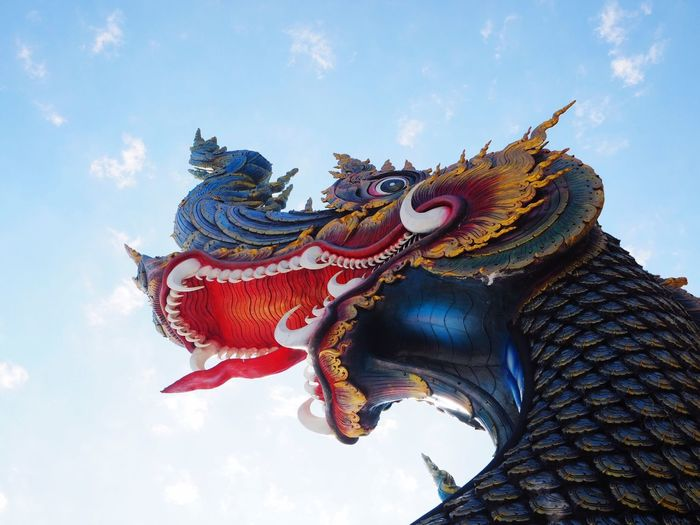 Low Angle View Of Dragon Statue