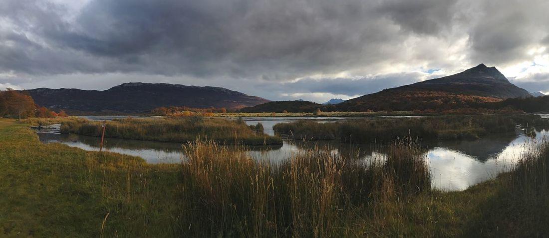 Otoño fueguino Autumn Tierra Del Fuego Ushuaia Argentina Mountain Reflection Water Scenics Nature