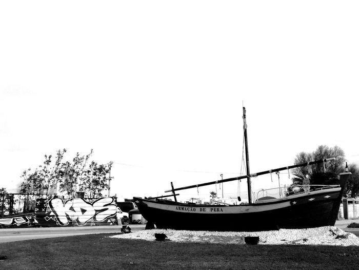 just another boat Blackandwhite Blackandwhitephotography LoveBW Love Art Dark Photography Bw_art EyeEm Selects #travel #streetphotography #beautiful #photography #blackandwhite #EyeEm Nautical Vessel Water Clear Sky Sea Moored Tree Sailing Ship Beach Sky Calm