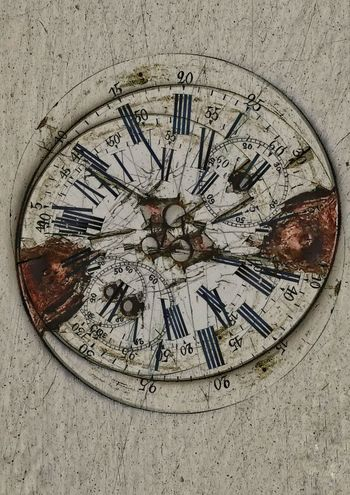 Clock No People Close-up Backgrounds Roman Numeral Concentric Day Outdoors Surreal Surrealism Watch Face Abstract