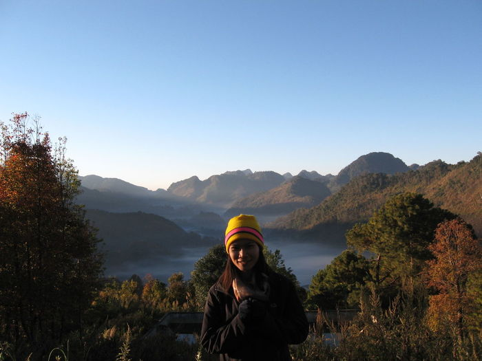 Memory in 2007 Tourist Mist Morning Along The Way Beauty In Nature North Winter Cloud - Sky Smiling Mountain Women Warm Clothing Happiness Adventure Portrait Sunrise - Dawn Cold