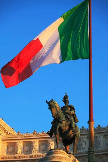 The equestrian statue of king Victor Emmanuel on monument know as il Vittoriano