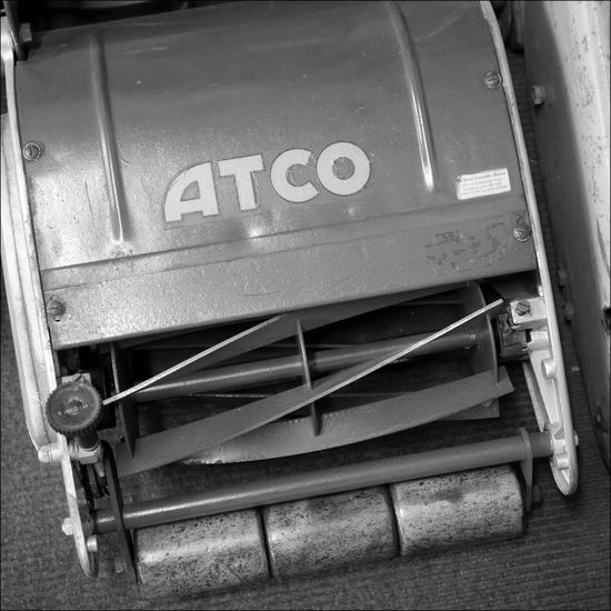 Atco Vintage Lawnmower Close-up Day Golden Days Keep It Neat No People Stationary Vintage