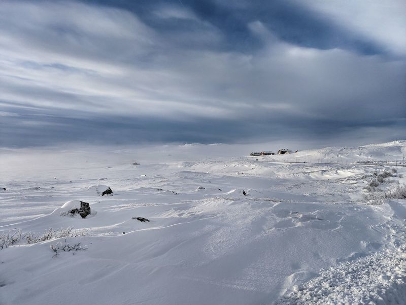 Wintermood near Halne in Norway Norway Hardangervidda Europe Plains Snowkiting Spot Plateu Vacation Bird Sea Low Tide Beach Flamingo Swimming Sea Life Water Atmospheric Mood Dramatic Sky Dramatic Landscape Moody Sky Storm Cloud Cumulonimbus Snowcapped Mountain Polar Climate