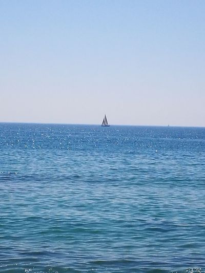 Sea And Sky Sea_collection Loneliness; Bluewater Ship At Sea Ships On The Water Premià De Mar Maresme Mar Soledad
