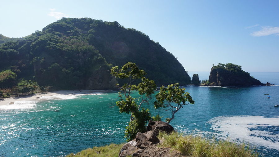 Asien Beauty In Nature Blue Cliff Coastline Day Flores Growth Idyllic INDONESIA Insel Mountain Nature Non-urban Scene Outdoors Rock Rock - Object Rock Formation Scenics Sea Sky Tranquil Scene Tranquility Tree Water