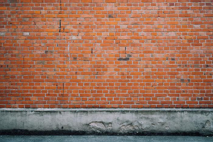 A brick wall. 0711 Benztown Brick Brick Wall Bricks Constantinschiller Geometry Herrschiller Mutterstadt  Sidewalk Southside Street Streetview Stuttgart Textured  Wall