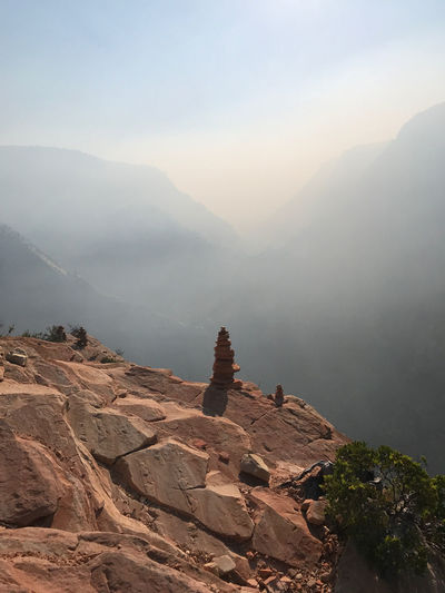 Hiking Nature Rock Pile Smoke Beauty In Nature Fog Mountain Mountain Range Nature Nature_collection No People Outdoors