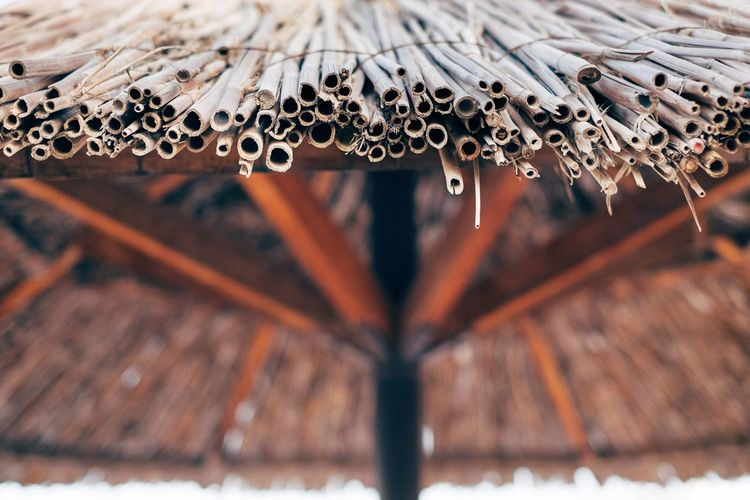 Close-up of thatched roof