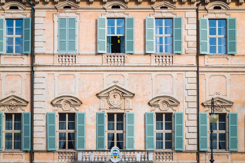 Facade of a building. mantua, italy