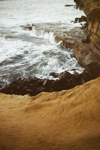 Analogue Photography Cali California CanonA1 Ishootfilm USA USAtrip Analog Canon Cliff Film Photography Filmisnotdead Force Nature No People Ocean Pacific Ocean Water Waterfront West Coast California Dreamin