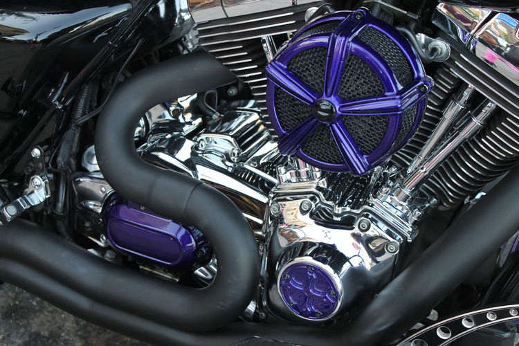 Close-up Day Motorcycle No People Ride With The Wind Road King Speedometer Transportation