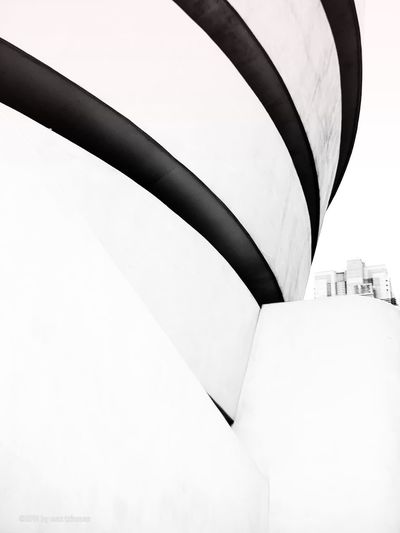Guggenheim No People Architecture Day Sky White Color Built Structure Building Exterior Low Angle View Black Color White Background EyeEmNewHere