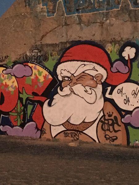 Blockaus bunker Christmastime Tag Graffiti Art Art And Craft ArtWork Drawing Ocean Landes