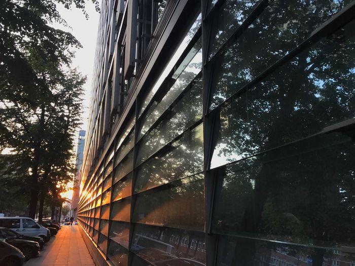 Hamburg Reflections Sunset Glass Urban Horizons Bernhard-Nocht-Straße