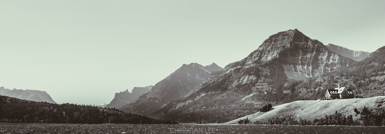 Prince of Wales Hotel Waterton Lakes National Park Landscape Outdoors Lake Mountains Hotel View Hiking Blackandwhite Photography