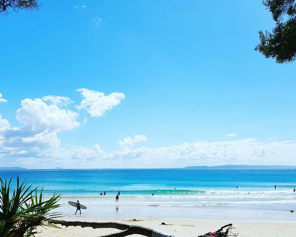 Great morning @NoosaNationalPark - TeaTreeBay Blue Hanging Out Check This Out Taking Photos Relaxing Enjoying Life Hi! Clouds And Sky Beachphotography Blue Wave Water_collection Ocean View Sunshine Life The Great Outdoors - 2016 EyeEm Awards