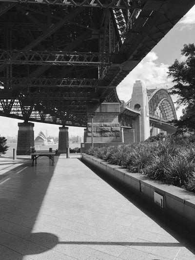 Low Angle View Sydney Harbor Bridge In City