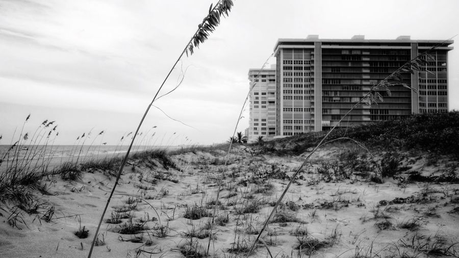 Architecture Sky Building Exterior Built Structure Outdoors No People Day Sand Nature Beach Condominiums