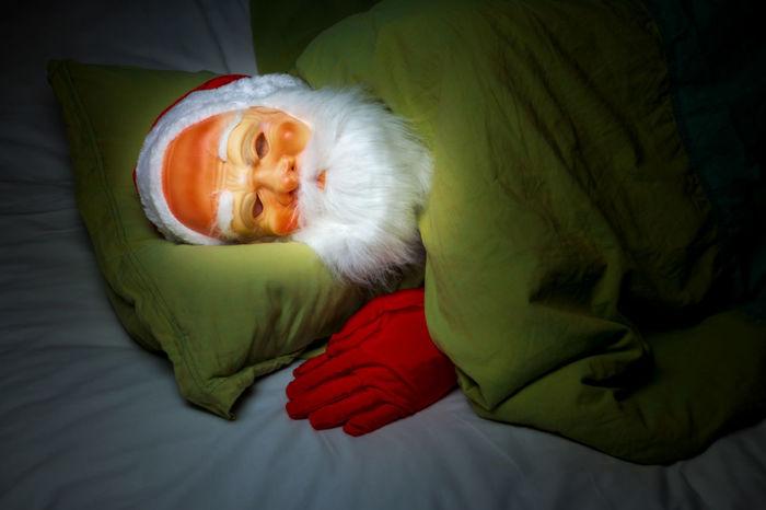 santa claus sleeping before xmas christmas Funny Relaxing Santa Claus Bed Costume Duvet Furniture Gloves Humane Indoors  Mask One Person Sleeping Sleepy Spotlight The Portraitist - 2018 EyeEm Awards