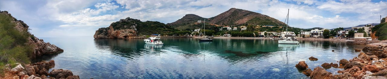 p Panorama Panoramic Photography Panoramic Landscape Mobilephotography Mobile Photography Samsung Galaxy S6 Edge Samsungphotography Outdoors Water Reflection Cloud - Sky Beauty In Nature - Greek Islands Chios Greece Been There.