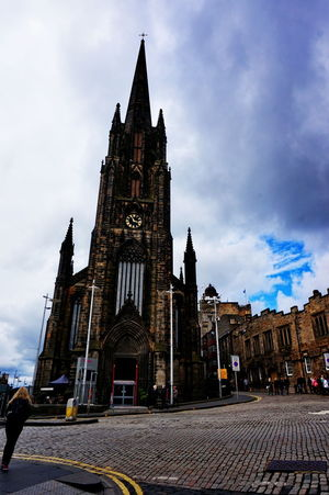 Edinburgh NEX-5T Scotland Architecture Building Exterior Built Structure Clock Tower Cloud - Sky Day Gothic Style History No People Outdoors Place Of Worship Religion Sky Sony Spirituality Tourism Tower Travel Destinations