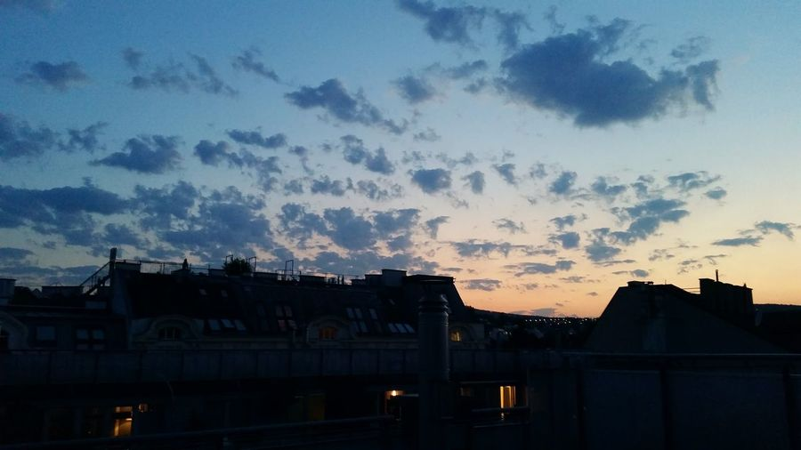 Evening Sky at Gersthof Vienna Rooftop