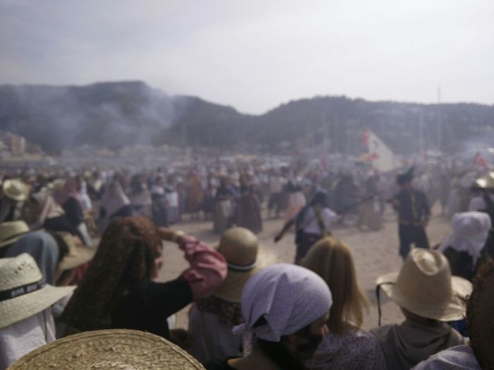 Traditional festival of sword fighting at marratxi