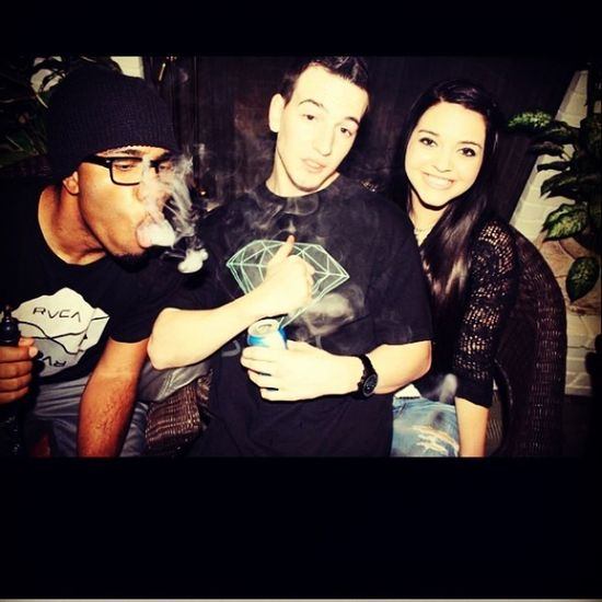 TBT  damn near when i first met the homie @jaredmaughan , not sure if thats hookah or something else but we stay smokin some ish!! And @becks_a_million_ over there cheesin and shit haha Homie Homegirl  Smokin hookah trees chillin