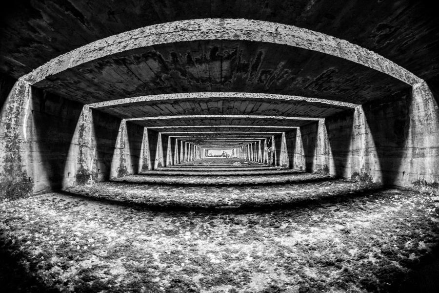 Submarine Base Bordeaux Architecture Architecture_bw Bnw Blackandwhite Black & White Base Urban Geometry Urbanphotography Urbanexploration