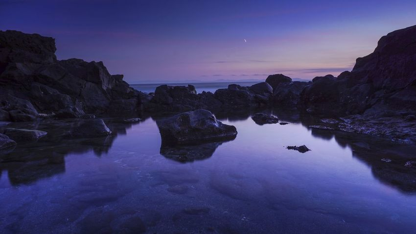 Night Landscape Purple Sky Water Summer Beauty In Nature Outdoors Sunset Nature