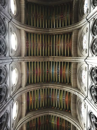 Symetry Church Mosaic Glass Ceiling Contrast Cealing OpenEdit Neo Gothic Architecture