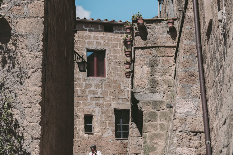Built Structure Architecture Building Exterior Building Old Day Window History The Past Low Angle View Wall Outdoors Wall - Building Feature Sunlight No People Nature Residential District Stone Wall House Sky