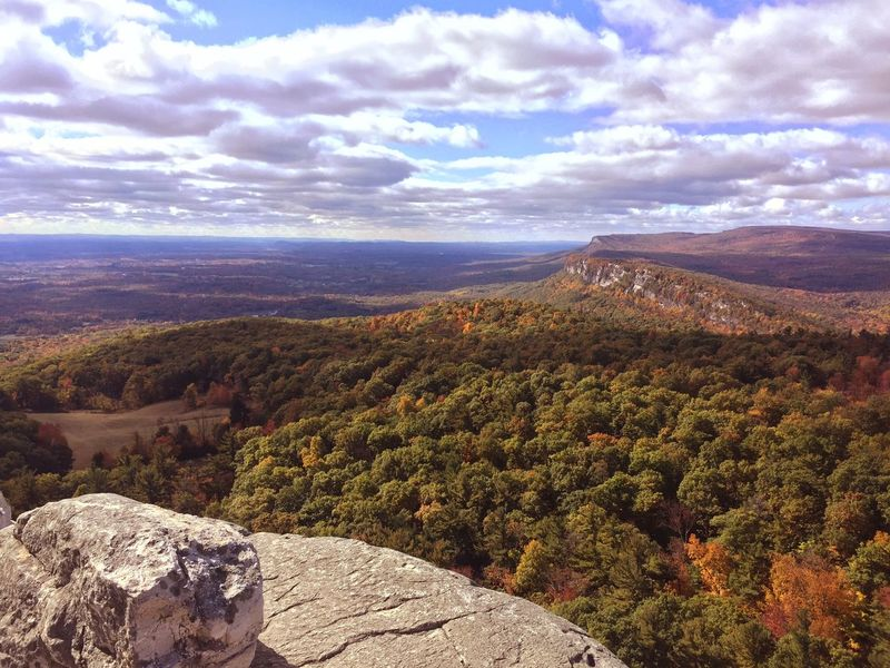 Aerial View Autumn Beauty In Nature Cloud - Sky Day Dramatic Sky Fall Foliage High Angle View Idyllic Landscape Leaves Minnewaska State Park Mohonk Mountain House Mohonk Preserve Mountain Nature No People Outdoors Rolling Landscape Scenics Sky Sunset Travel Destinations Tree