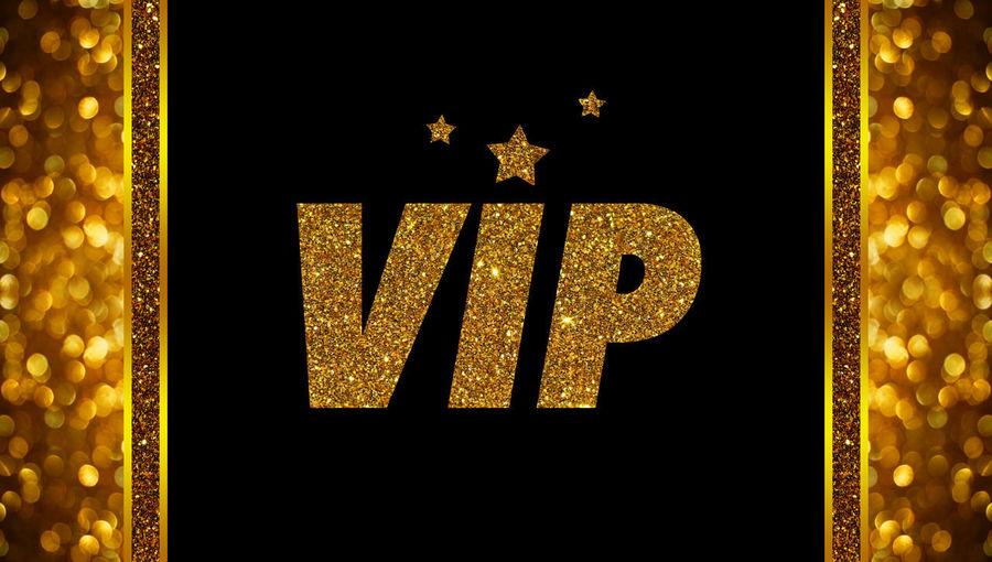 V.I.P. Black Background Card Gold Gold Colored Invitation Luxury V.i.p Card