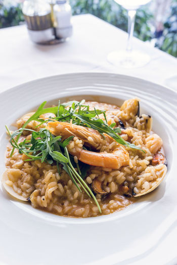 Close-up of risotto