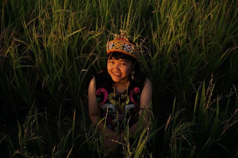 EyeEm Selects One Person Plant Smiling Women Clothing Hat Beauty Outdoors Girls Childhood Landscape Young Adult Rural Scene Nature Adult Land Grass Leisure Activity Child Field