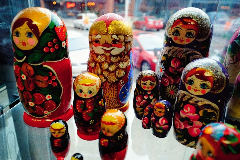"""Matryoshkas are used metaphorically, as a design paradigm, known as the """"matryoshka principle"""" or """"nested doll principle"""". It denotes a recognizable relationship of """"object-within-similar-object"""" that appears in the design of many other natural and crafted objects. Examples of this use include the Matrioshka brain and the Matroska media-container format. The onion metaphor is of similar character. If the outer layer is peeled off an onion, a similar onion exists within. This structure is employed by designers in applications such as the layering of clothes or the design of tables, where a smaller table nests within a larger table, and a smaller one within that. The Matroska (MKV) multimedia container format derives its name from Matryoshka, alluding to the container being able to hold many different types of content streams. A Day In The Life Arrangement Art And Craft Babushka Dolls Check This Out Color Photography Culture Cultures Decoration Design From Russia With Love Handmade Market Matryoshka Doll Nesting Dolls Recursion Russian Russian Dolls Russian Nesting Dolls Shoot Your Life Shop Shopping Taking Photos Toys матрешка"""
