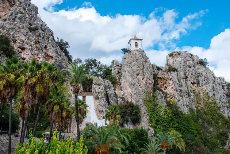 Guadalest Fortress Mountain Village Old Architecture SPAIN Spanish Guadalest Sky Cloud - Sky Plant Low Angle View Tree Architecture Built Structure Nature No People History