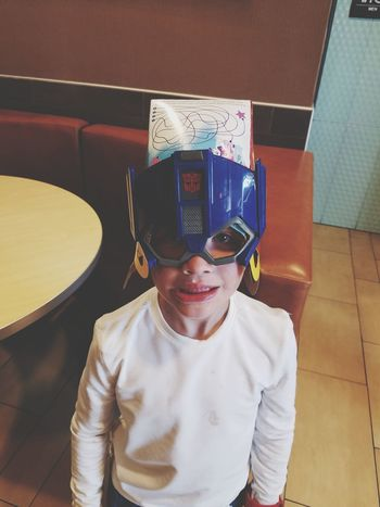 EyeEm Selects Funny Boys My Grandson Looking At Camera Child One Person Front View One Boy Only Indoors  Superhero Masked Box On His Head Disguise Futuristic Childhood Standing Quality Times Samsung Galaxy S7 Edge