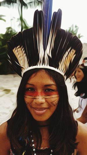 One Woman Only Portrait Front View Looking At Camera One Young Woman Only One Person Beautiful Woman Indigenous People