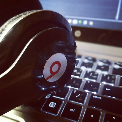 BeatsAudio Calmdown Headphones Keyboard Light Moment Of Silence Music Is My Life Relaxe Soft Music First Eyeem Photo