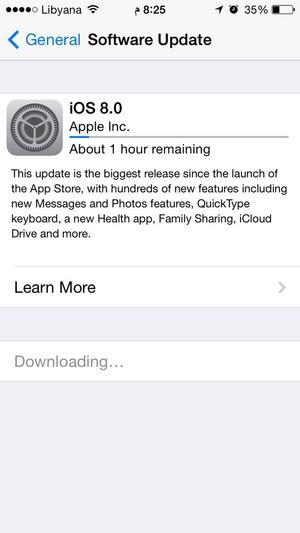 IOS 8 5s update