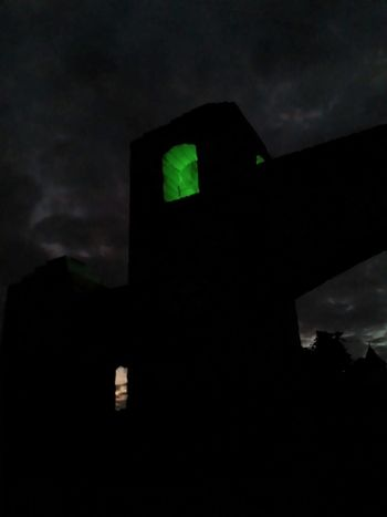 Green Halloween Halloween_Collection Light Light At Night Spooky Atmosphere Architecture Built Structure Creepy Eerie Eerie Beautiful Eerie Photos Eerie Vibes Green Light Greenlight Illuminated Lightatnight Night Silhouette Spooky