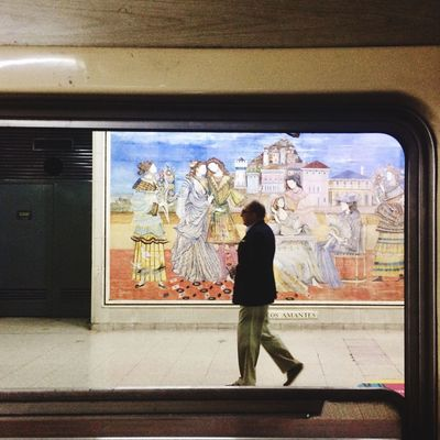 Full Length One Person Window Lifestyles Architecture Subway Station Wall Color Art Getting Inspired Getting Creative PicturePerfect Like A Painting