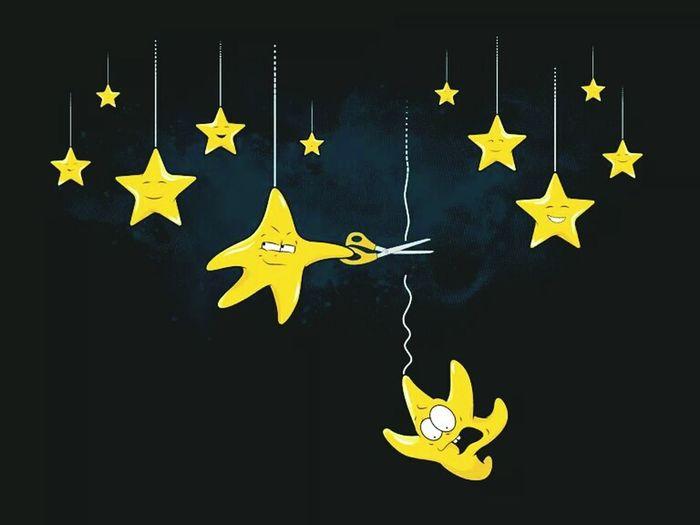 Bad Star Funny Fall
