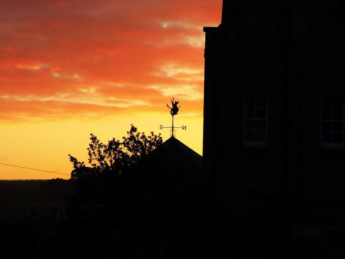 Northumbria Sunset Weather Vane North And South